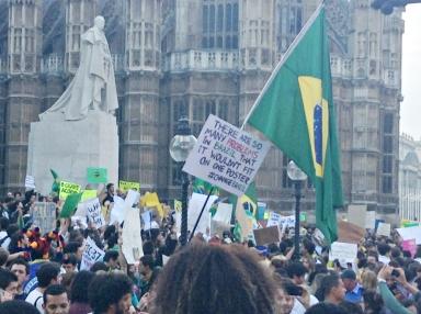 Protesto no Parlamento