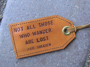 tag etsy not all those who wander handmade leather 20USD